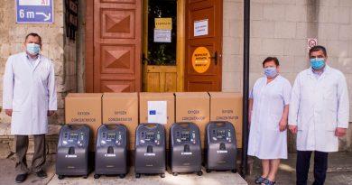 Молдова получила 356 кислородных концентраторов от ЕС
