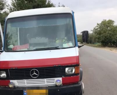 В Кагульском районе полиция остановила  пьяного водителя. Он перевозил 14 человек