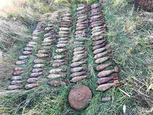 Более 100 бомб было найдено в районе Каушан. Они лежали под землей более 70 лет
