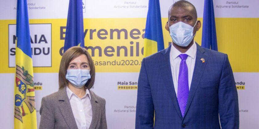 «Международная изоляция нашей страны закончилась». Майя Санду встретилась с послами США и ЕС в Молдове