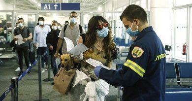 Греция введет 10-дневный карантин для всех прибывших из-за границы с 18 декабря
