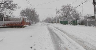 (Фото) Как выглядят населенные пункты Гагаузии после выпавшего снега