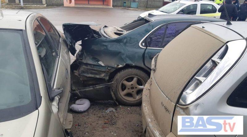 В Бессарабке произошло ДТП с участием 4-х автомобилей. Никто не пострадал