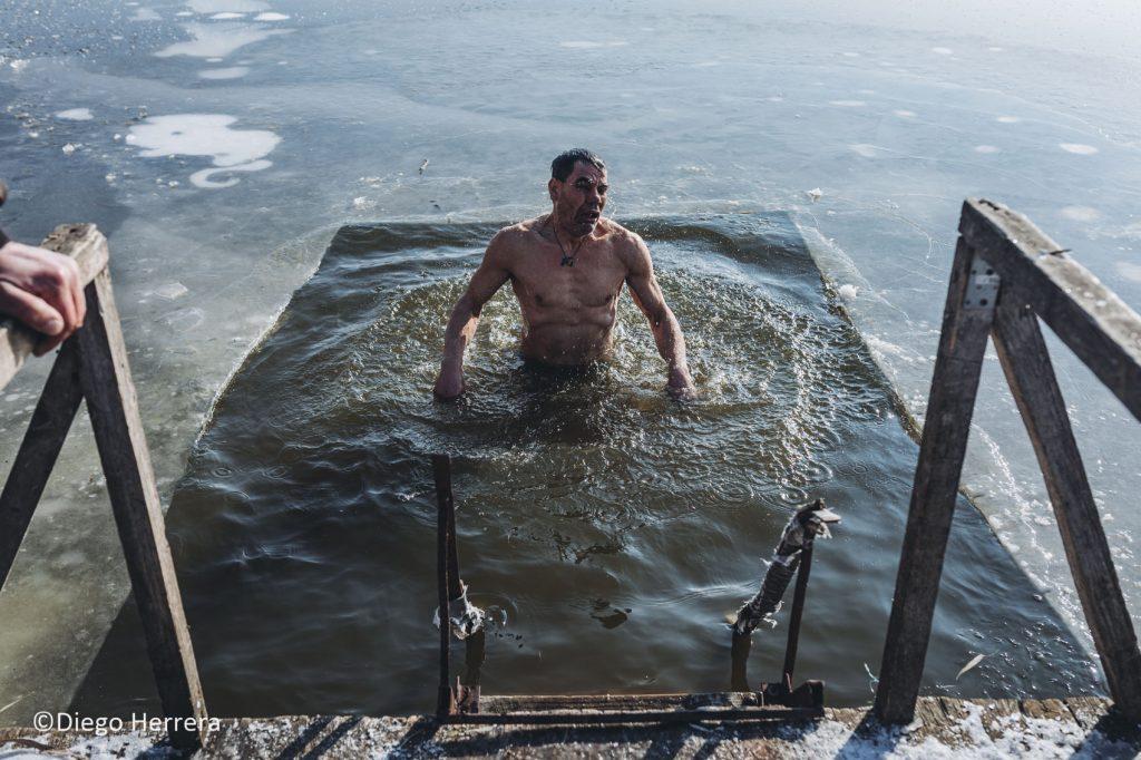 (Фоторепортаж) Как  прошли Крещенские купания в селе Конгаз