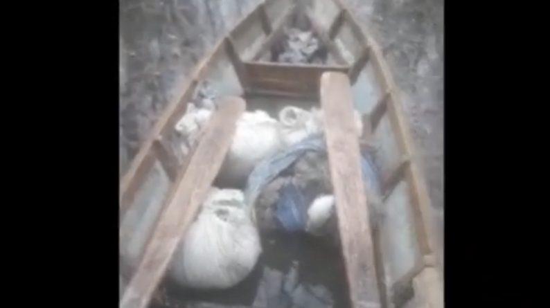 (Видео) В Кагульском районе пограничная полиция нашла лодку с сетями и рыбой. Хозяин лодки сказал, что ее украли