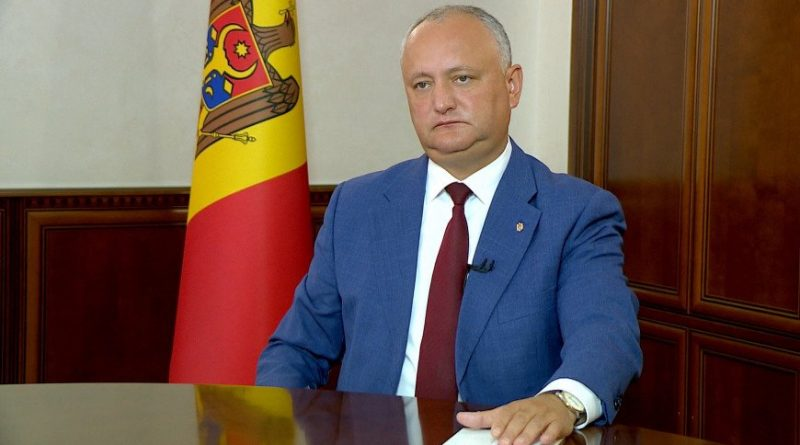 Игоря Додона подозревают в нарушении режима несовместимости. Проводится проверка