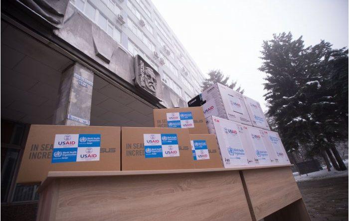 USAID и ВОЗ передали IT-оборудование 10 центрам здоровья и НАОЗ