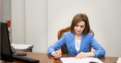 Майя Санду подписала соглашение о финансовой помощи ЕС в размере 15 млн. евро
