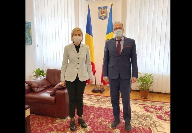 Ирина Влах попросила посла Румынии помочь с организацией визита делегации исполкома в эту страну