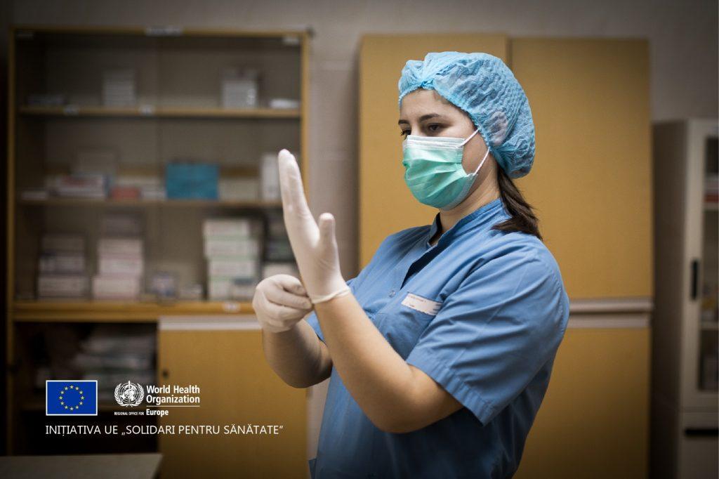 (Фото) Медсестра COVID-отделения в Комрате Светлана Терзи стала героем фотопроекта о медработниках