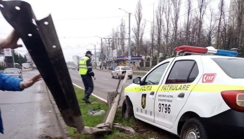 В Кишиневе полицейская машина попала в ДТП