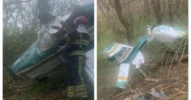 (Фото)Вблизи аэродрома в Вадул-луй-Водэ упал  легкомоторный самолет