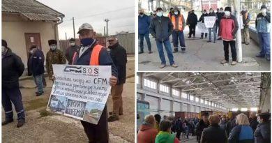 (Видео) В ряде городов страны железнодорожники снова провели протесты из-за долгов по зарплате