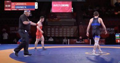 (Видео) Финальный поединок борца из Гагаузии Николая Грахмез на Чемпионате Европы до 23 лет