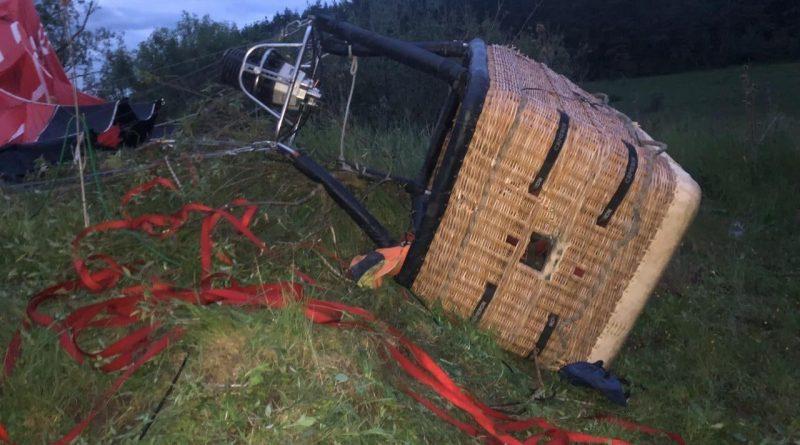 В Украине упал воздушный шар с пассажирами. Погиб один человек