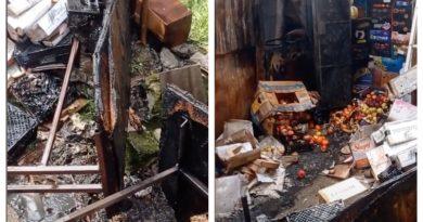 (Видео) В Комрате произошел пожар на центральном рынке