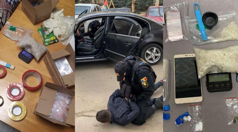 (Видео) Пятеро подозреваемых в торговле наркотиками задержаны в Кишиневе. Они зарабатывали более 10 000 леев в день