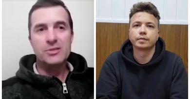 """""""У него сломан нос, а на лице - пудра"""": отец Протасевича уверен, что его сына пытали"""