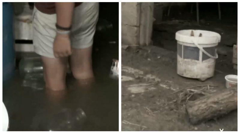 (Видео) В Чимишлийском районе из-за ливней затопило дворы и огороды, а дожди не прекращаются
