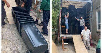 Село Чишмикиой получило  контейнеры по проекту Европейского Союза