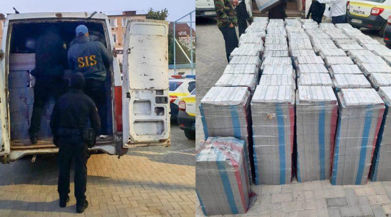 (Фото) В Кагуле выявили крупную контрабанду сигарет. Шесть человек задержаны