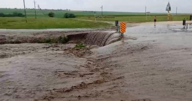 (Видео) В Каушанском районе затопило мост на въезде в село Украинка