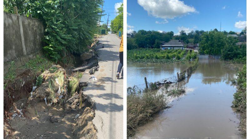 (Фото) В селе Чишмикиой подсчитали ущерб от ливневых дождей. Смыты дороги, затоплены огороды и сорваны крыши
