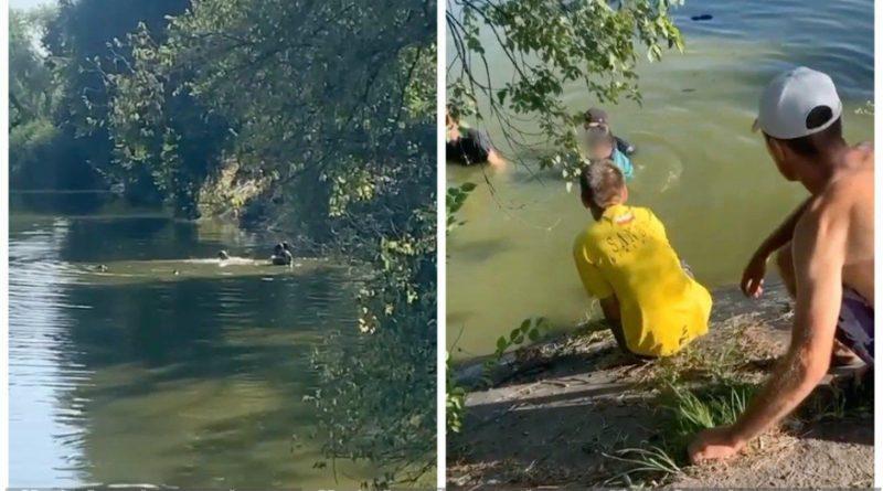 (Видео) В Бельцах прохожие спасли детей, которые тонули в озере