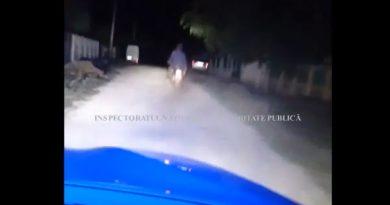 (Видео) Погоня полиции за мотоциклом в Кагульском районе. Водитель оказался пьян